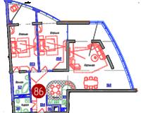 3-комнатная квартира 134 кв. м